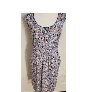 Boden Colorful Stretch Jersey Sleeveless Dress 10P